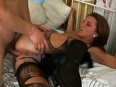 Cutie cant stop moaning from painful joy from anal