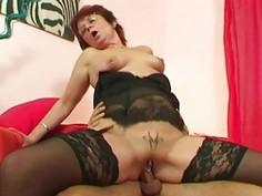 Emo Grandma Jana Pesova Fucked In Sexy Stockings