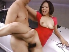 Pretty pregnant darling receives a pussy drilling