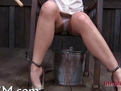 Clamping beauty's knockers