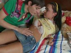 Slutty teen Raine gets her pussy polished by Shane