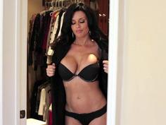 Glamorous MILF Veronica Avluv changing in dressing room