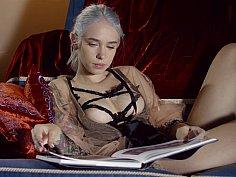 Blonde punk stunning breast