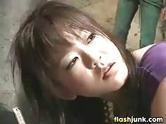 Asian Slut Gets An Enema And Dances